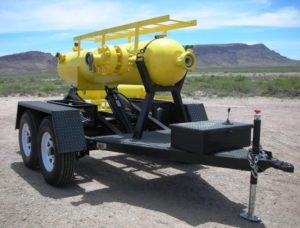 Trailer mounted gravity sand separator