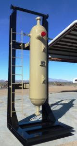 10000 psi cyclone sand separator in vertical operational orientation
